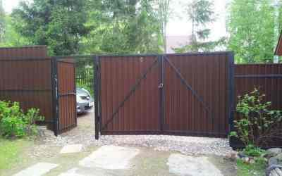 Ворота и забор любой сложности оказываем услуги